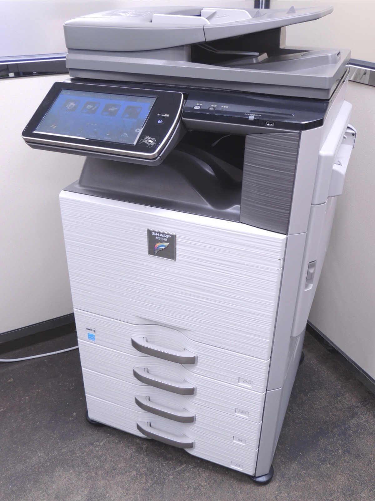 MX-3640FN(SHARP)中古カラー複合機・高速・A3・Mac・無線LAN対応【コピヤス】